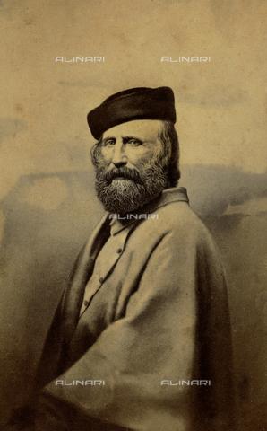 FBQ-F-001309-0000 - Half-length portrait of Giuseppe Garibaldi - Data dello scatto: 1853 -1865 ca. - Archivi Alinari, Firenze