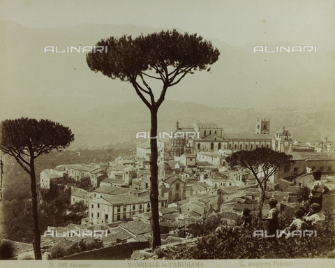 FBQ-F-001594-0000 - Panorama of the town of Monreale - Data dello scatto: 1860 -1870 - Archivi Alinari, Firenze