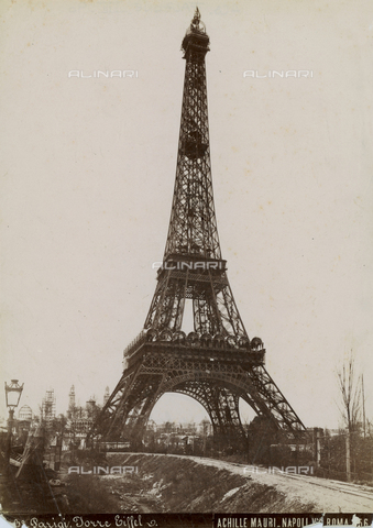 FBQ-F-001745-0000 - Historical view of the Tour Eiffel in Paris - Date of photography: 1890 ca. - Fratelli Alinari Museum Collections, Florence