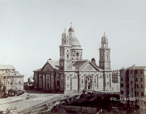 FBQ-F-001956-0000 - The Basilica of Santa Maria Assunta in Carignano, in Genoa - Data dello scatto: 1870 ca. - Archivi Alinari, Firenze
