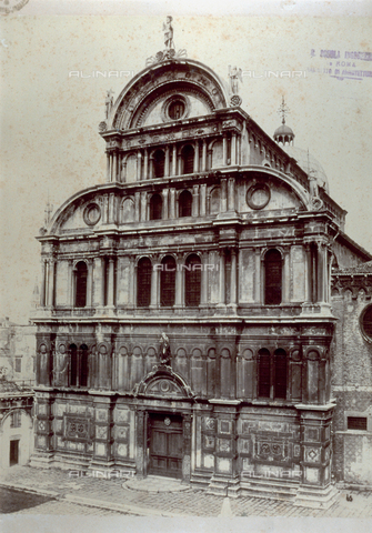 FBQ-F-001994-0000 - The façade of the Church of San Zaccaria in Venice - Data dello scatto: 1875 - Archivi Alinari, Firenze