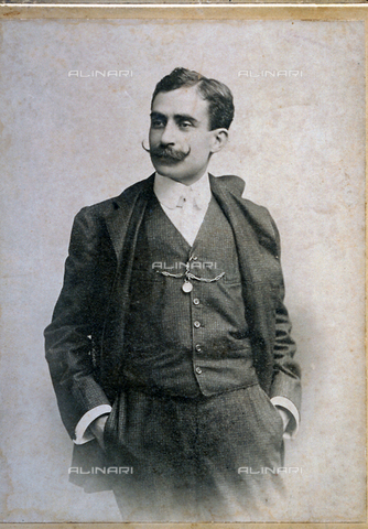 FBQ-F-004275-0000 - Three - quarter - length portrait of the sicilian politician, Angelo Majorana (1865-1910) - Data dello scatto: 14 Luglio 1905 - Archivi Alinari, Firenze