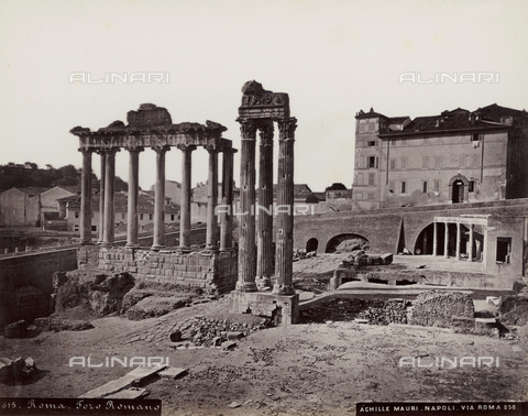FBQ-F-004455-0000 - Historical view of the Foro Romano in Rome - Date of photography: 1885 ca. - Fratelli Alinari Museum Collections, Florence