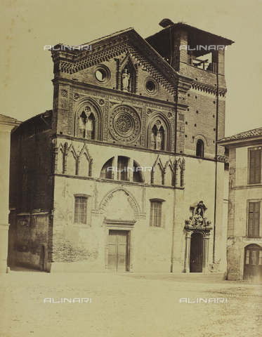 FBQ-F-004968-0000 - Facade of the fourteenth century Church of Santa Maria in Strada, in Monza, Brianza - Data dello scatto: 1870 ca. - Archivi Alinari, Firenze