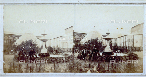 FBQ-F-005882-0000 - Garden prepared for the Italian Exhibition of 1861 held in Florence - Date of photography: 1861 - Fratelli Alinari Museum Collections, Florence