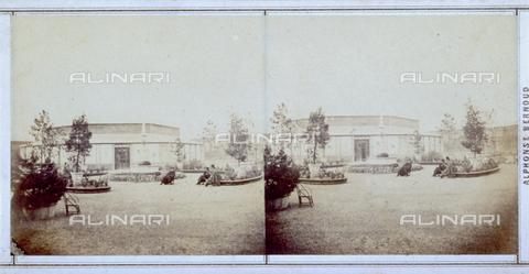FBQ-F-005883-0000 - Giardini allestiti per l'Esposizione Italiana del 1861 tenutasi a Firenze - Data dello scatto: 1861 - Raccolte Museali Fratelli Alinari (RMFA), Firenze