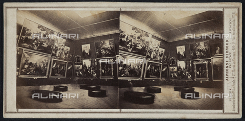 FBQ-F-005884-0000 - Gallery prepared for the Italian Exhibition of 1861 held in Florence - Date of photography: 1861 - Fratelli Alinari Museum Collections, Florence