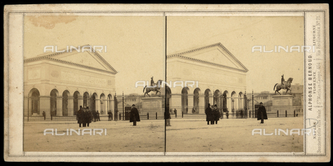 FBQ-F-005885-0000 - National Italian Exhibition of 1861: principal facade of the palazzo dell'Esposizione, location result of the restoration of the Stazione Leopolda to a design by architect Giuseppe Martelli - Date of photography: 1861 - Fratelli Alinari Museum Collections, Florence