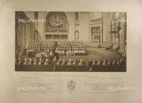 FBQ-F-006302-0000 - Pio IX proclama il Dogma dell'infallibilità del Pontefice nella Sala Concilio Ecumenico Vaticano, il 18 luglio 1870 - Data dello scatto: 1870 - Archivi Alinari, Firenze