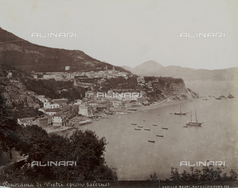 FBQ-F-006359-0000 - Panoramic view of Vietri sul Mare - Date of photography: 1885 ca. - Fratelli Alinari Museum Collections, Florence