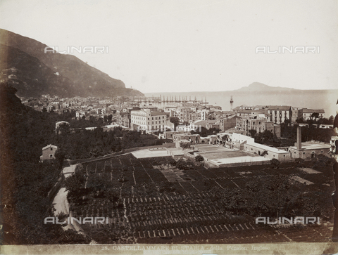 FBQ-F-006360-0000 - Panoramic view of Castellammare di Stabia - Date of photography: 1885 ca. - Fratelli Alinari Museum Collections, Florence