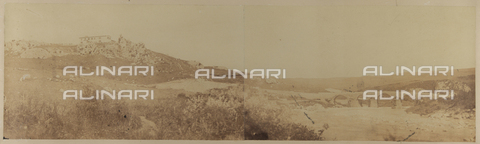 FBQ-F-006614-0000 - Apulian landscape with views of the Roman bridge and Canosa - Date of photography: 1865 ca. - Fratelli Alinari Museum Collections, Florence