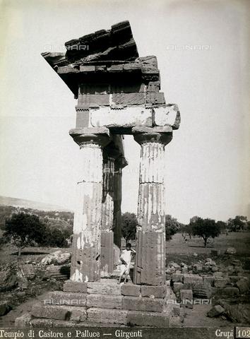 FBQ-F-006885-0000 - Il Tempio dei Dioscuri (o di Castore e Polluce) ad Agrigento - Data dello scatto: 1880-1890 - Archivi Alinari, Firenze