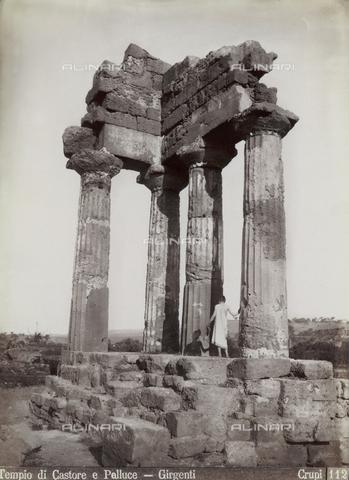 FBQ-F-006887-0000 - Il Tempio dei Dioscuri (o di Castore e Polluce) ad Agrigento - Data dello scatto: 1880-1890 - Archivi Alinari, Firenze