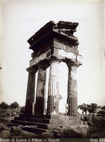 FBQ-F-006888-0000 - Il Tempio dei Dioscuri (o di Castore e Polluce) ad Agrigento - Data dello scatto: 1880-1890 - Archivi Alinari, Firenze