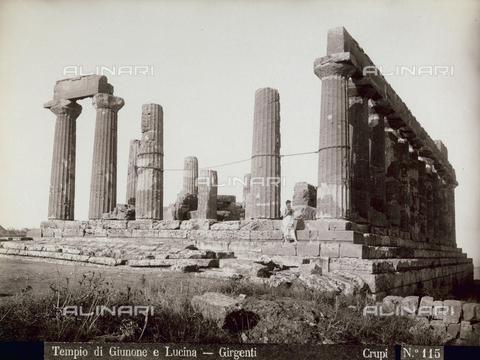 FBQ-F-006891-0000 - Il Tempio di Giunone Lacinia ad Agrigento - Data dello scatto: 1880-1890 - Archivi Alinari, Firenze