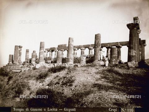 FBQ-F-006892-0000 - Il Tempio di Giunone Lacinia ad Agrigento - Data dello scatto: 1880-1890 - Archivi Alinari, Firenze