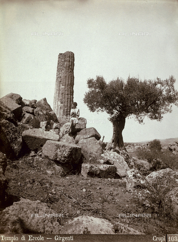 FBQ-F-006894-0000 - Temple of Hercules at Agrigento - Data dello scatto: 1880-1890 - Archivi Alinari, Firenze