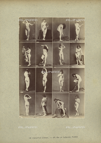 FCC-A-000089-0013 - Female nude posing - Date of photography: 1880-1890 - Fratelli Alinari Museum Collections-Favrod Collection, Florence