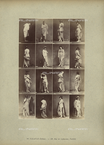 FCC-A-000089-0014 - Seminude women posing - Date of photography: 1880-1890 - Fratelli Alinari Museum Collections-Favrod Collection, Florence