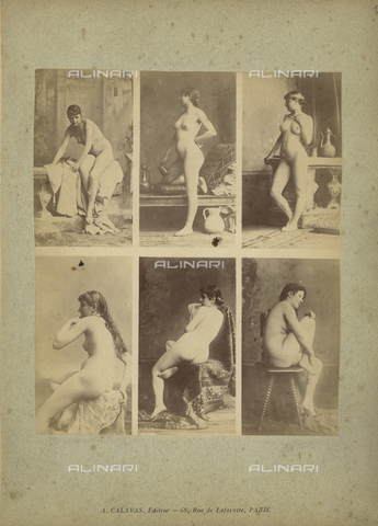 FCC-A-000089-0016 - Female nude posing - Date of photography: 1880-1890 - Fratelli Alinari Museum Collections-Favrod Collection, Florence