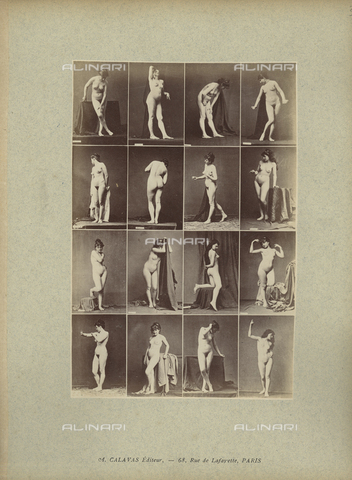FCC-A-000089-0038 - Female nude posing - Date of photography: 1880-1890 - Fratelli Alinari Museum Collections-Favrod Collection, Florence
