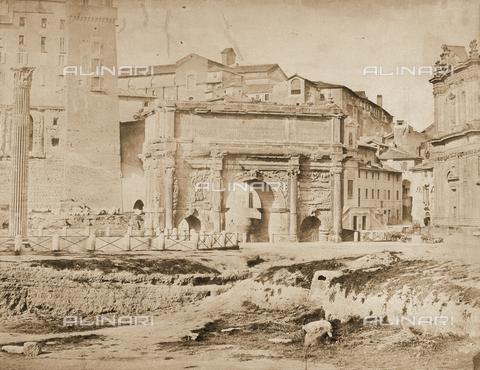 FCC-F-009924-0000 - L'Arco di Settimio Severo nel Foro Romano a Roma - Data dello scatto: 1855 ca. - Raccolte Museali Fratelli Alinari (RMFA)-collezione Favrod, Firenze