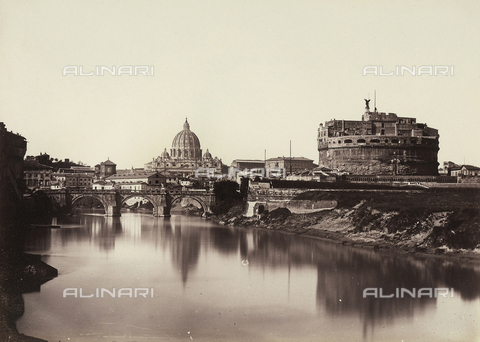 FCC-F-010080-0000 - Panoramic view of Rome, with Castel Sant'Angelo, the Sant'Angelo Bridge and the Basilica of the Vatican in the background