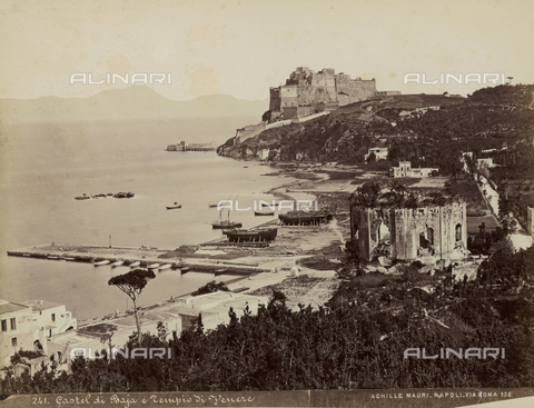 FCC-F-010607-0000 - Castel di Baja and the Temple of Venus in Naples - Date of photography: 1885 ca. - Fratelli Alinari Museum Collections-Favrod Collection, Florence