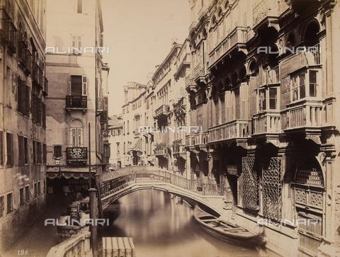 FCC-F-010869-0000 - The Rio della Canonica, to the right of which is the Palazzo Trevisan, later Palazzo Cappello, in Venice - Data dello scatto: 1870 ca. - Archivi Alinari, Firenze