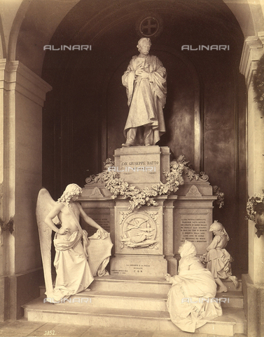 FCC-F-011143-0000 - Funerary monument of Cavalier Giuseppe Ratto, by Lorenzo Orengo, located in the Staglieno Cemetery in Genoa - Data dello scatto: 1890 - Archivi Alinari, Firenze