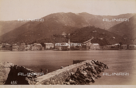 FCC-F-011168-0000 - View of Rapallo, taken from the port - Data dello scatto: 1890 ca. - Archivi Alinari, Firenze