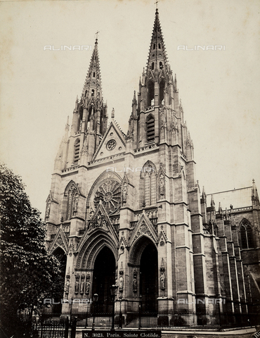 FCC-F-011523-0000 - Neo-gothic basilica of Sainte Clotide in Paris. - Data dello scatto: 1860-1880 ca. - Archivi Alinari, Firenze