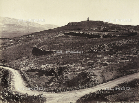 FCC-F-014307-0000 - The Pnyz Mountain or the Mountain of the Thirty Tyrants, Athens - Date of photography: 1870 ca. - Fratelli Alinari Museum Collections-Favrod Collection, Florence