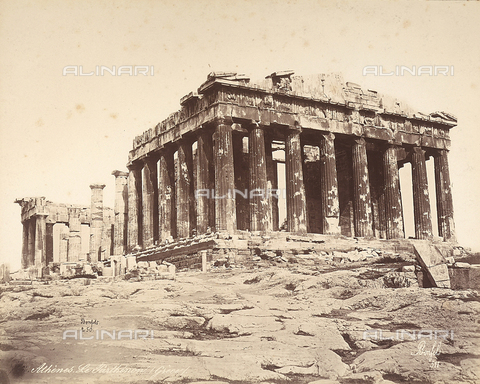 FCC-F-014313-0000 - The Parthenon, on the Acropolis of Athens - Date of photography: 1865 ca. - Fratelli Alinari Museum Collections-Favrod Collection, Florence