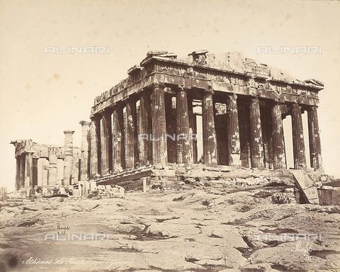 FCC-F-014313-0000 - Il Partenone sull'Acropoli di Atene - Data dello scatto: 1865 ca. - Raccolte Museali Fratelli Alinari (RMFA)-collezione Favrod, Firenze