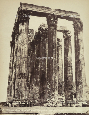 FCC-F-014317-0000 - The Olympeion, or Temple of the Olympian Zeus, on the Acropolis of Athens - Date of photography: 1870 ca. - Fratelli Alinari Museum Collections-Favrod Collection, Florence