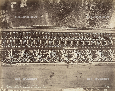 FCC-F-014318-0000 - Detail of a frieze from the Erectheon, on the Acropolis, Athens - Date of photography: 1870 ca. - Fratelli Alinari Museum Collections-Favrod Collection, Florence
