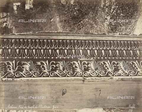 FCC-F-014318-0000 - Particolare di un fregio dell'Eretteo sull'Acropli di Atene - Data dello scatto: 1870 ca. - Raccolte Museali Fratelli Alinari (RMFA)-collezione Favrod, Firenze
