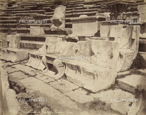 FCC-F-014319-0000 - Seats in the Theater of Dionysus, Athens - Date of photography: 1870 ca. - Fratelli Alinari Museum Collections-Favrod Collection, Florence