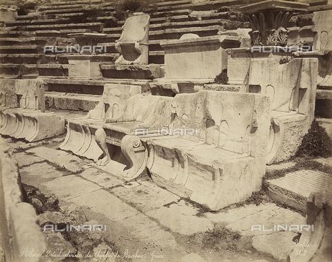 FCC-F-014319-0000 - Sedili nel Teatro di Dioniso ad Atene - Data dello scatto: 1870 ca. - Raccolte Museali Fratelli Alinari (RMFA)-collezione Favrod, Firenze