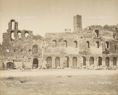 FCC-F-014320-0000 - The ruins of the Odeon of Herodes Atticus in Athens - Date of photography: 1870 ca. - Fratelli Alinari Museum Collections-Favrod Collection, Florence