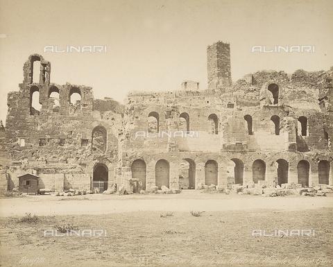 FCC-F-014320-0000 - Le rovine dell'Odeon di Erode Attico ad Atene - Data dello scatto: 1870 ca. - Raccolte Museali Fratelli Alinari (RMFA)-collezione Favrod, Firenze