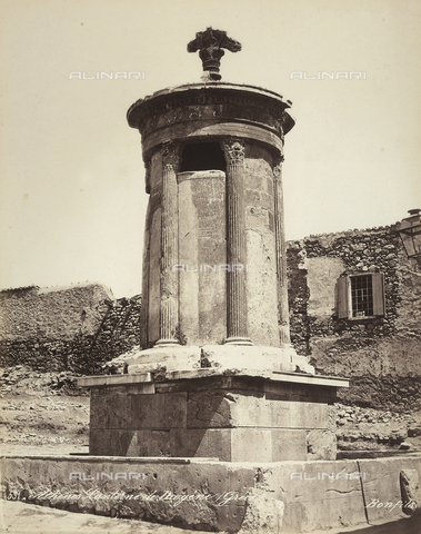 FCC-F-014321-0000 - Monument to Lysicrates, located in the city of Athens - Date of photography: 1870 ca. - Fratelli Alinari Museum Collections-Favrod Collection, Florence
