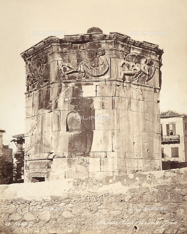 FCC-F-014322-0000 - The Tower of the Winds, also called the Hydrolic Clock in Athens - Date of photography: 1870 ca. - Fratelli Alinari Museum Collections-Favrod Collection, Florence