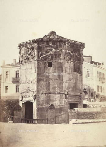 FCC-F-014323-0000 - The Tower of the Winds, also called the Hydraulic Clock, in Athens - Date of photography: 1870 ca. - Fratelli Alinari Museum Collections-Favrod Collection, Florence