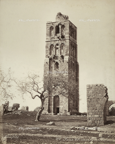 FCC-F-014331-0000 - View of the Tower of the Forty Martyrs, in Isreal - Date of photography: 1870 ca. - Fratelli Alinari Museum Collections-Favrod Collection, Florence