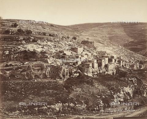 FCC-F-014338-0000 - Veduta del villaggio di Siloé, in Israele - Data dello scatto: 1870 ca. - Raccolte Museali Fratelli Alinari (RMFA)-collezione Favrod, Firenze