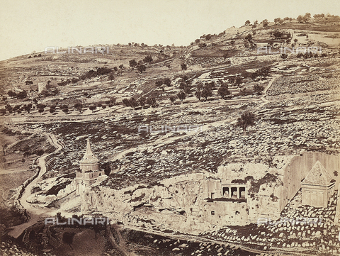 FCC-F-014375-0000 - Tomb of Beni-Khafir, tomb of S. James , Cedron Valley, Jerusalem - Date of photography: 1869 - Fratelli Alinari Museum Collections-Favrod Collection, Florence
