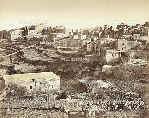FCC-F-014386-0000 - Panoramic view of Bethlehem, Isreal - Date of photography: 1870 ca. - Fratelli Alinari Museum Collections-Favrod Collection, Florence